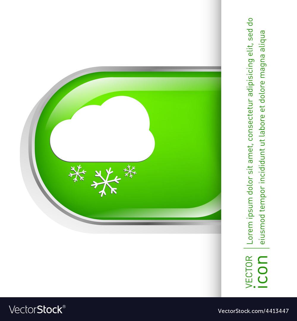 Weather icon cloud snow vector | Price: 1 Credit (USD $1)