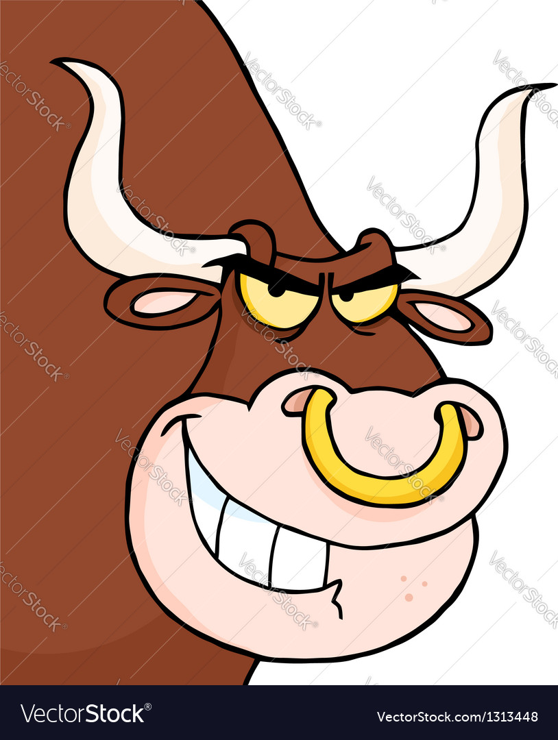 Angry longhorn head looking vector | Price: 1 Credit (USD $1)