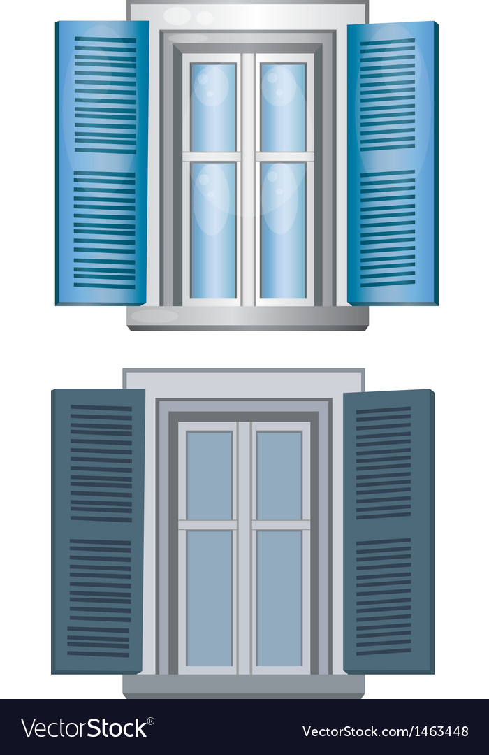 Blue gray classic window pane architect model vector | Price: 1 Credit (USD $1)
