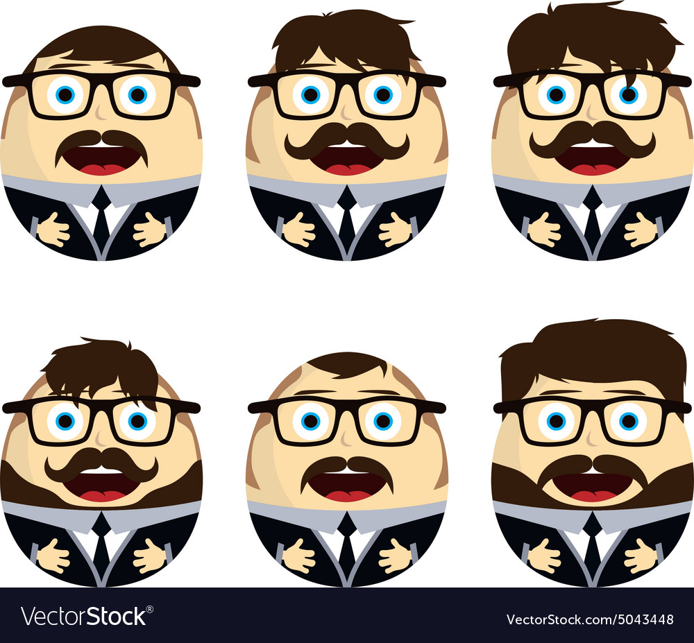 Businessman egg doll vector