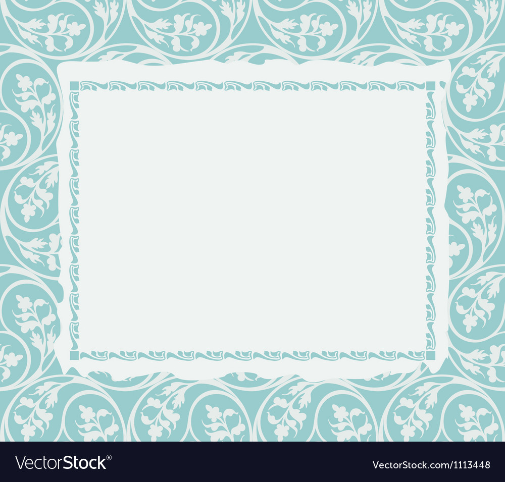 Frame on a ornamental background vector | Price: 1 Credit (USD $1)