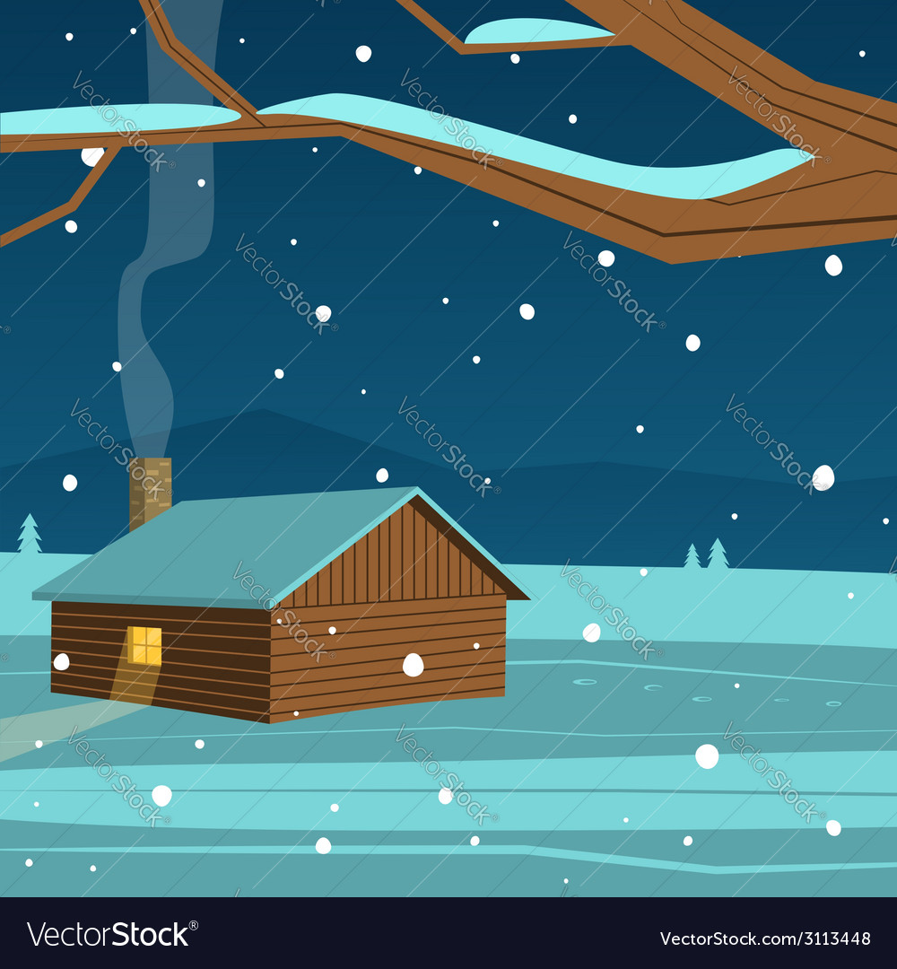 Mountain cabin vector | Price: 1 Credit (USD $1)