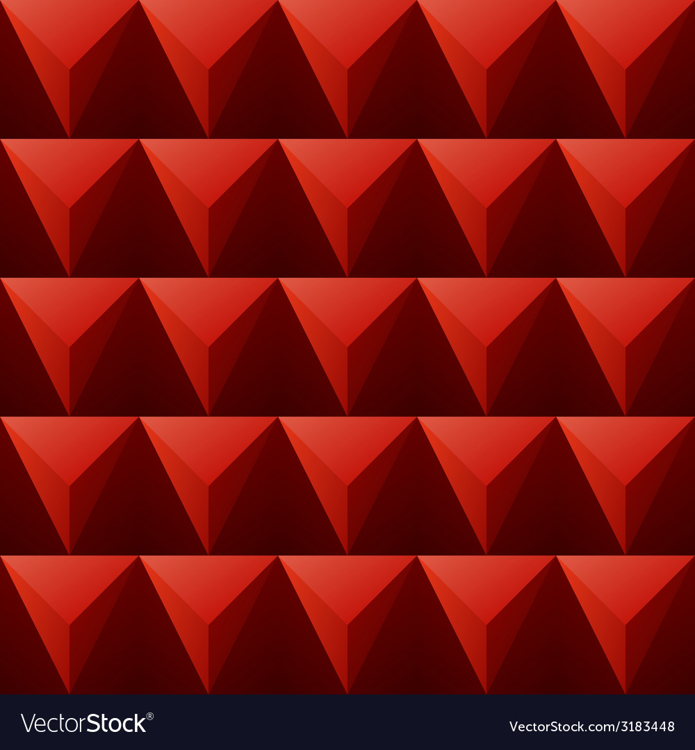 Red regular triangular background vector | Price: 1 Credit (USD $1)