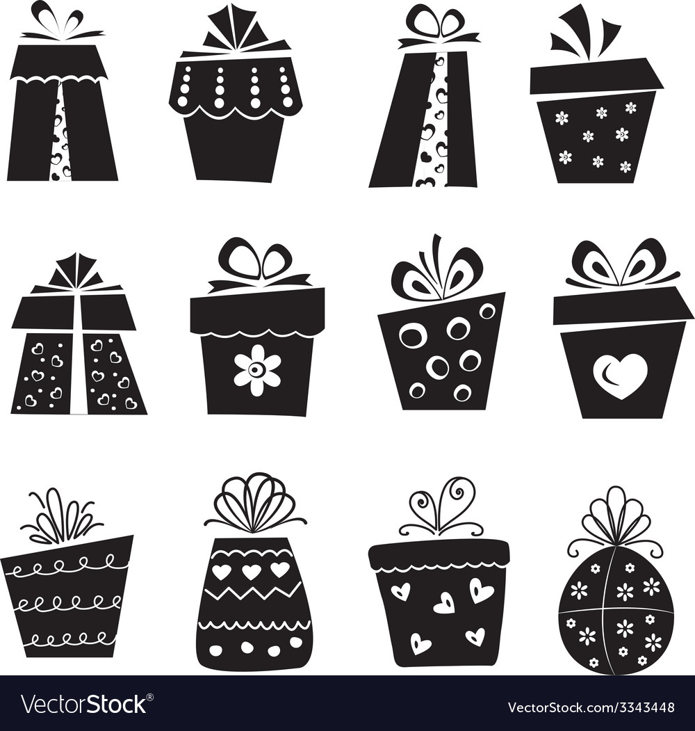 Set of gift box icons vector | Price: 1 Credit (USD $1)