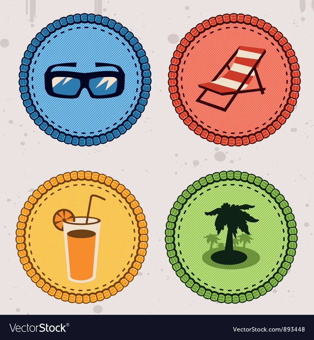 Summer holiday icons vector | Price: 1 Credit (USD $1)