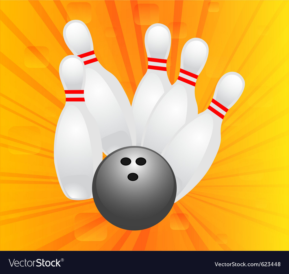 Ten pin bowling vector | Price: 1 Credit (USD $1)