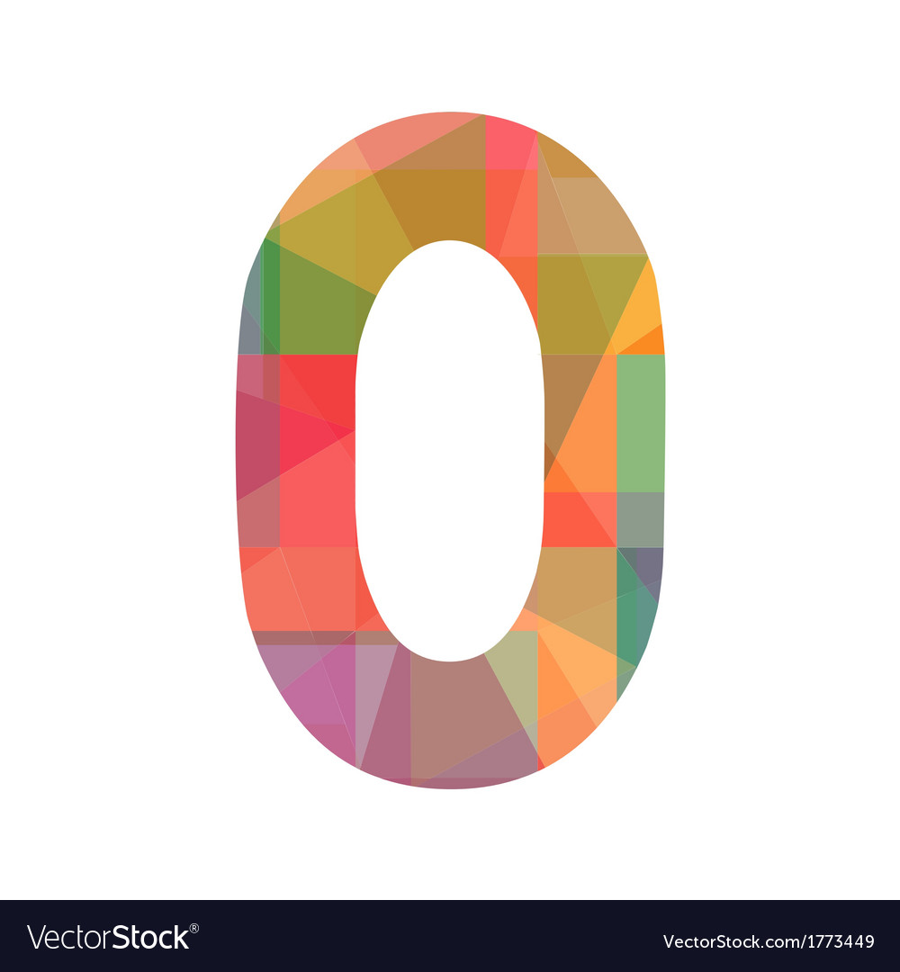 A colorful number zero vector | Price: 1 Credit (USD $1)