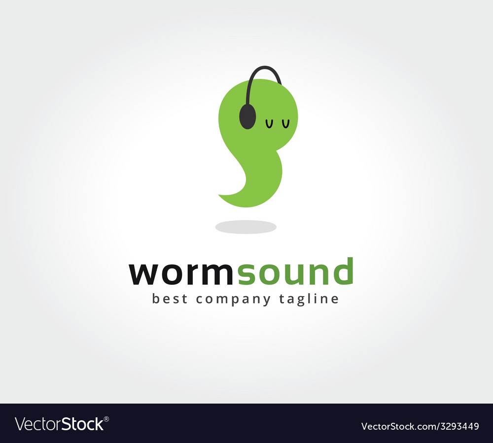 Abstract worm with headphone logo icon concept vector | Price: 1 Credit (USD $1)