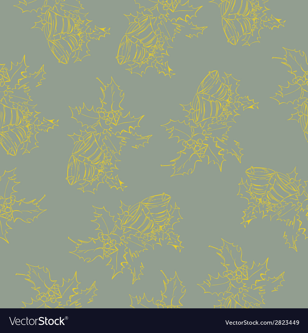 Christmas bells seamless pattern vector   Price: 1 Credit (USD $1)