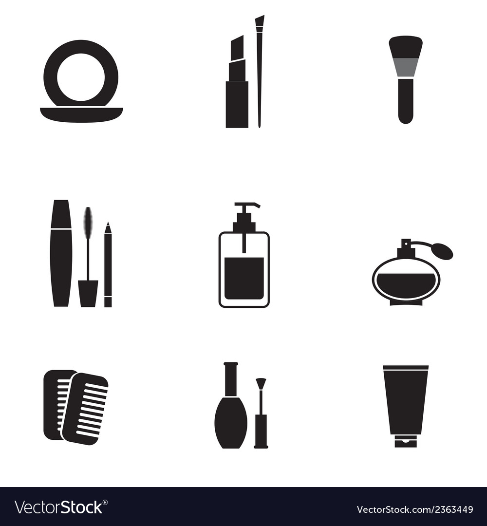 Cosmetics icons set vector | Price: 1 Credit (USD $1)