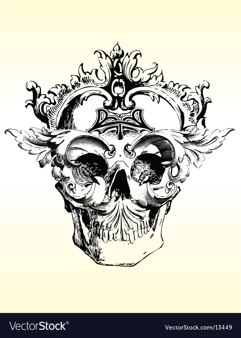 Deranged grunge skull vector | Price: 3 Credit (USD $3)