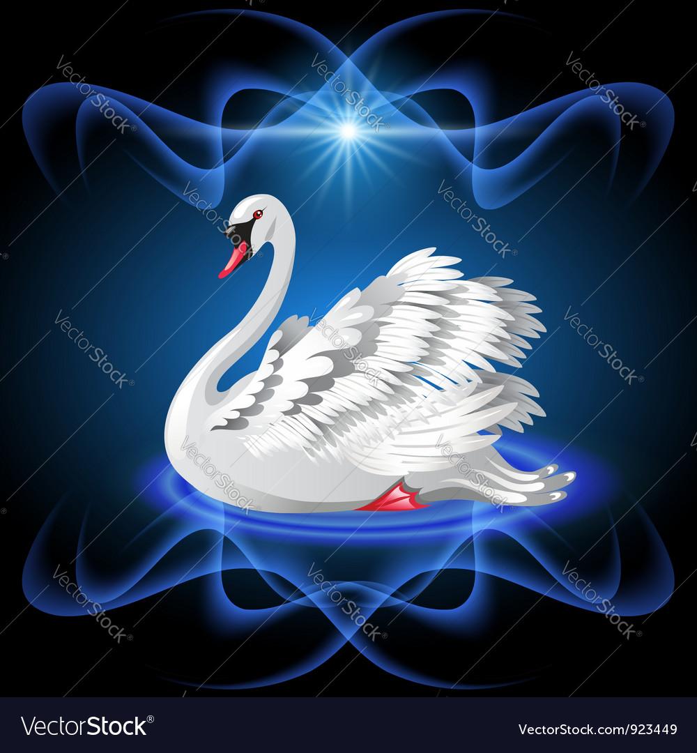 Elegant white swan vector   Price: 3 Credit (USD $3)