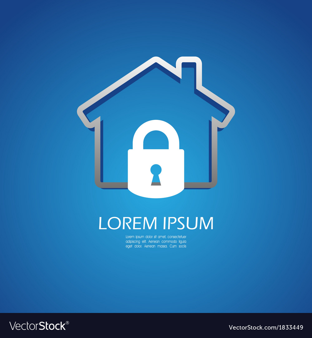 House lock icon vector | Price: 1 Credit (USD $1)
