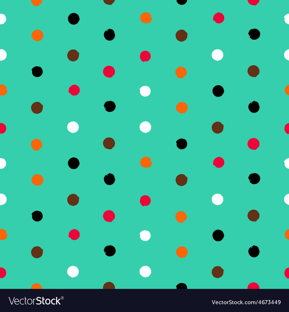 Polka dot pattern vector | Price: 1 Credit (USD $1)