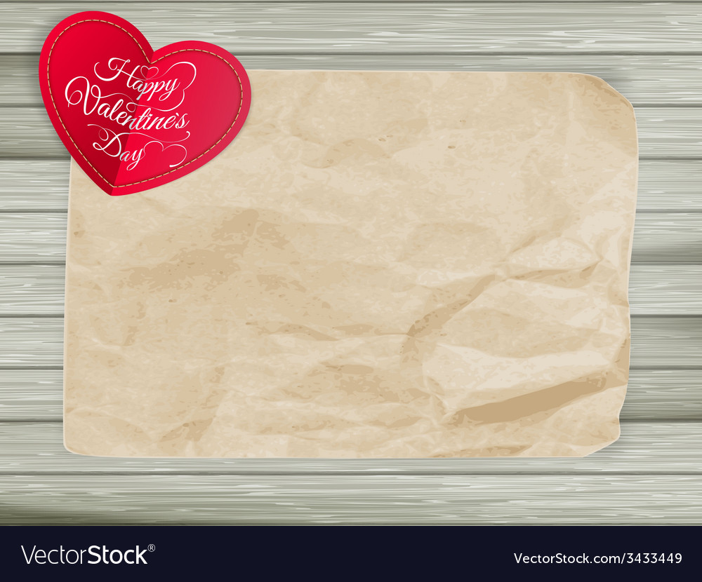 Red hearts on vintage paper background eps 10 vector | Price: 1 Credit (USD $1)