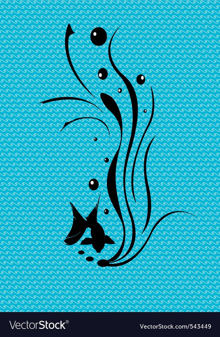 Retro fish design vector | Price: 1 Credit (USD $1)