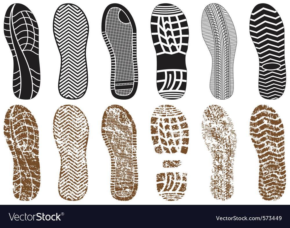 Set of footprints vector | Price: 1 Credit (USD $1)