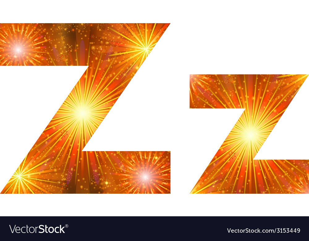 Set of letters firework z vector | Price: 1 Credit (USD $1)