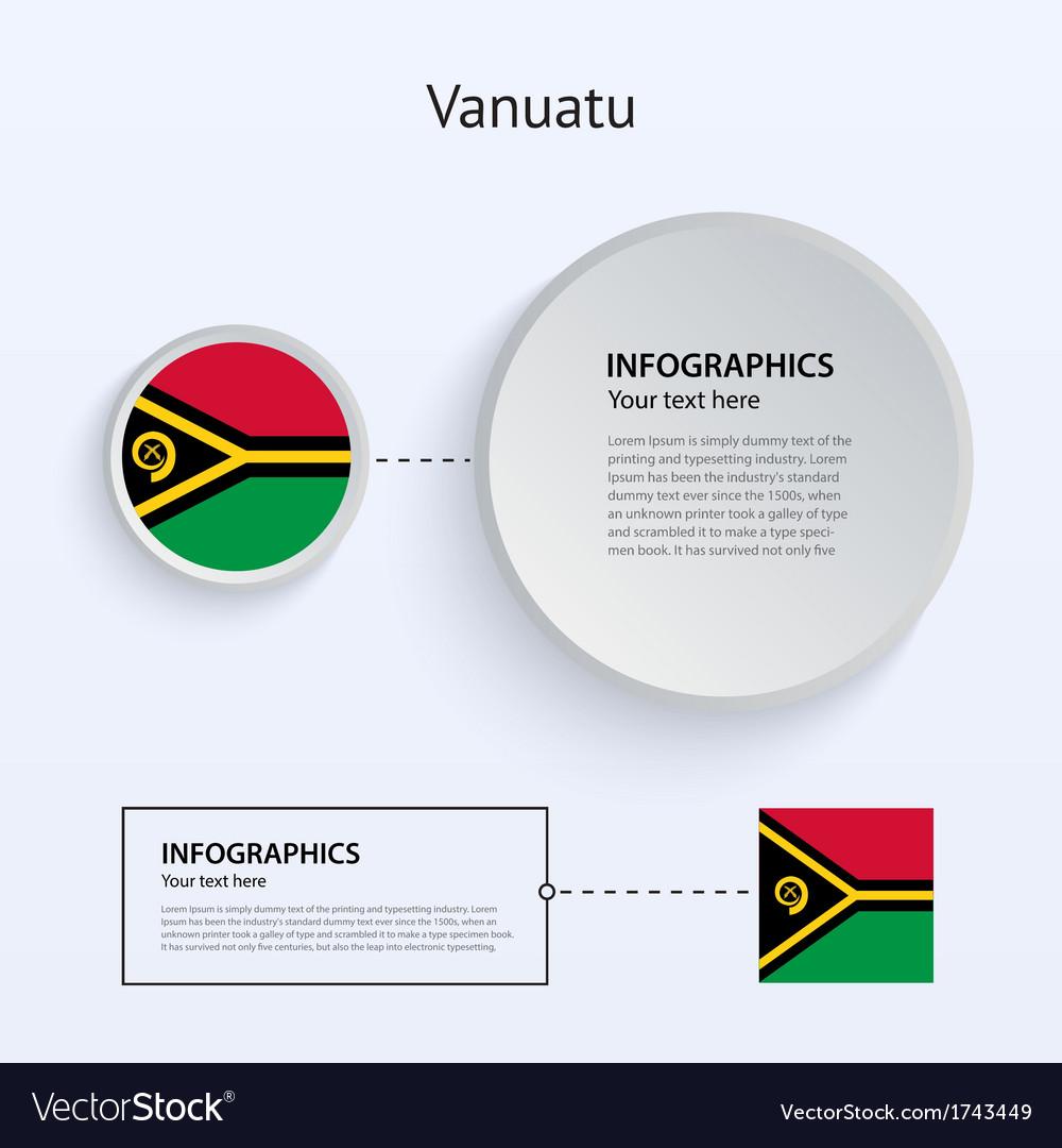 Vanuatu country set of banners vector | Price: 1 Credit (USD $1)