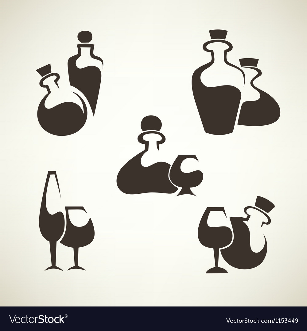 Wine and alcohol collection vector | Price: 1 Credit (USD $1)