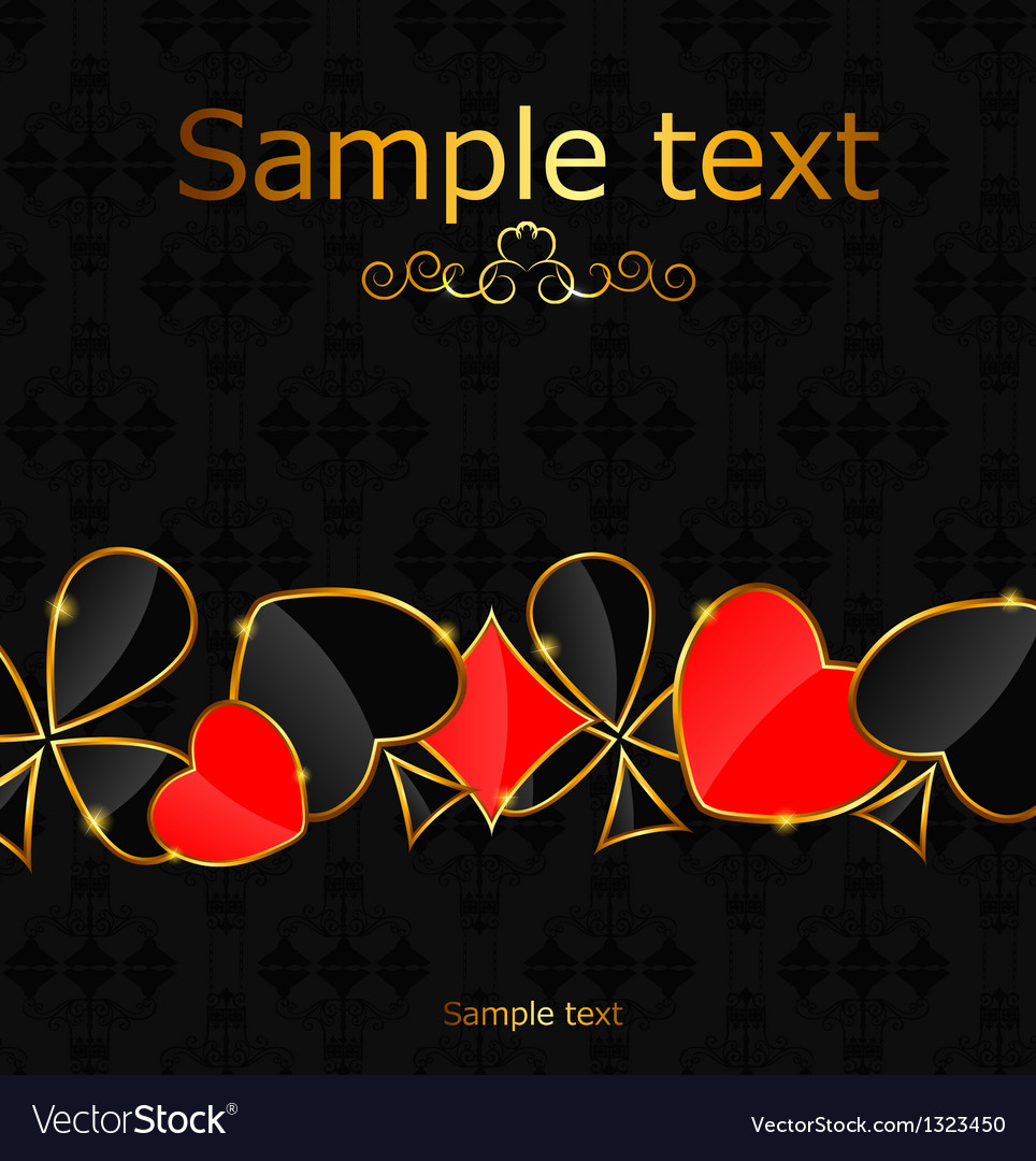 Abstract background with card suits for design vector | Price: 1 Credit (USD $1)