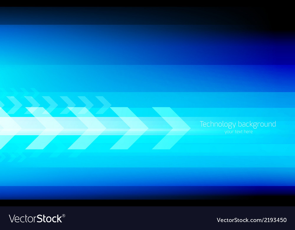Abstract tech background with arrows vector | Price: 1 Credit (USD $1)