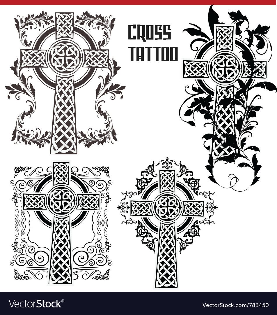 Cross tattoo vector | Price: 1 Credit (USD $1)