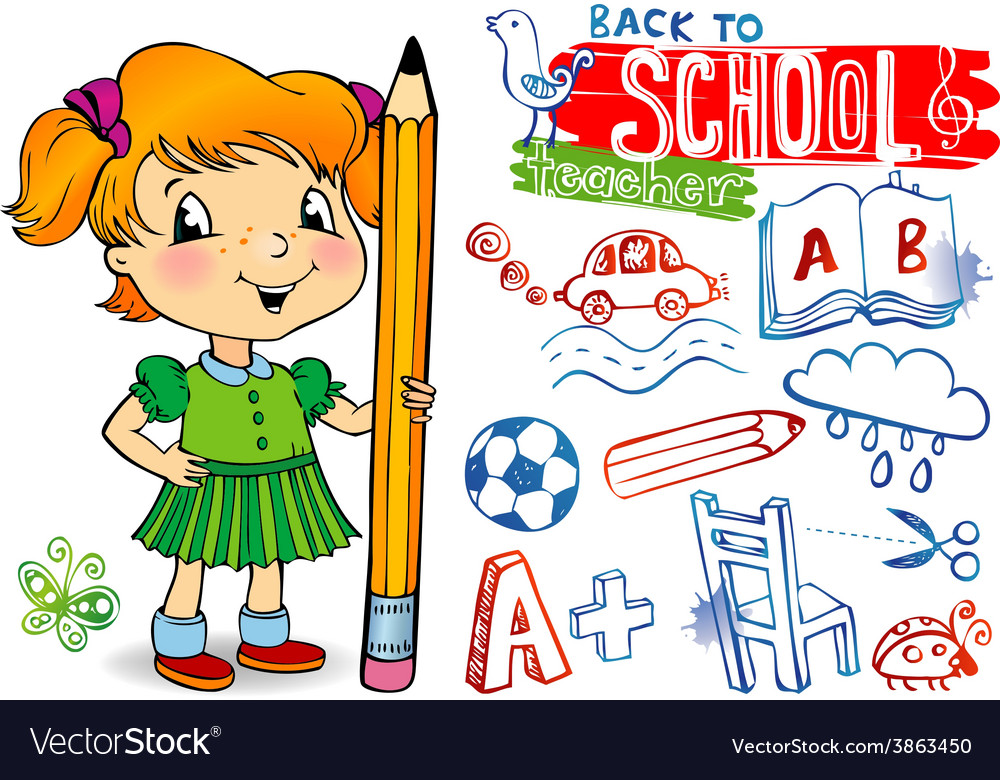 Funny doodles - back to school vector | Price: 1 Credit (USD $1)