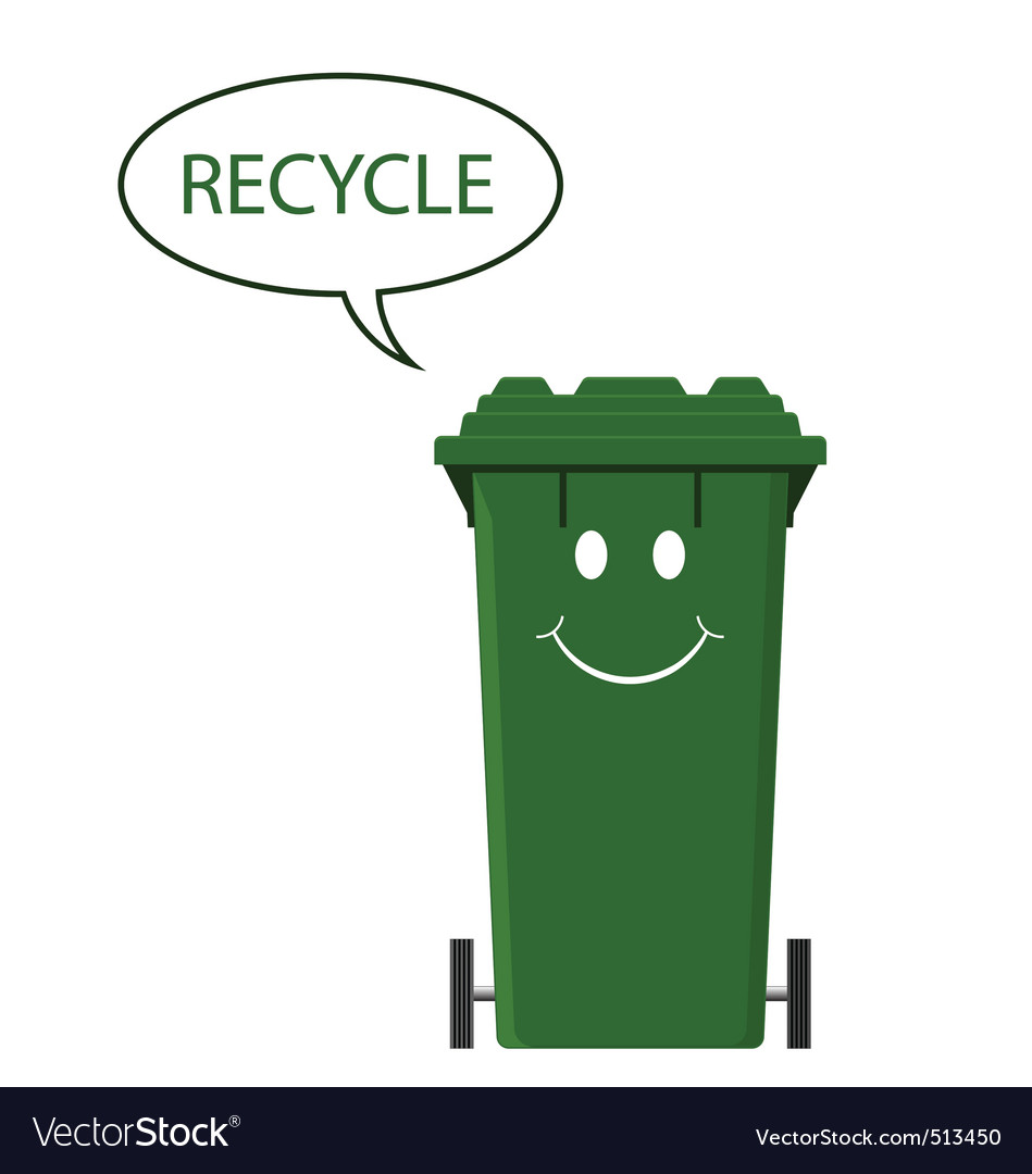 Happy recycle bin vector | Price: 1 Credit (USD $1)