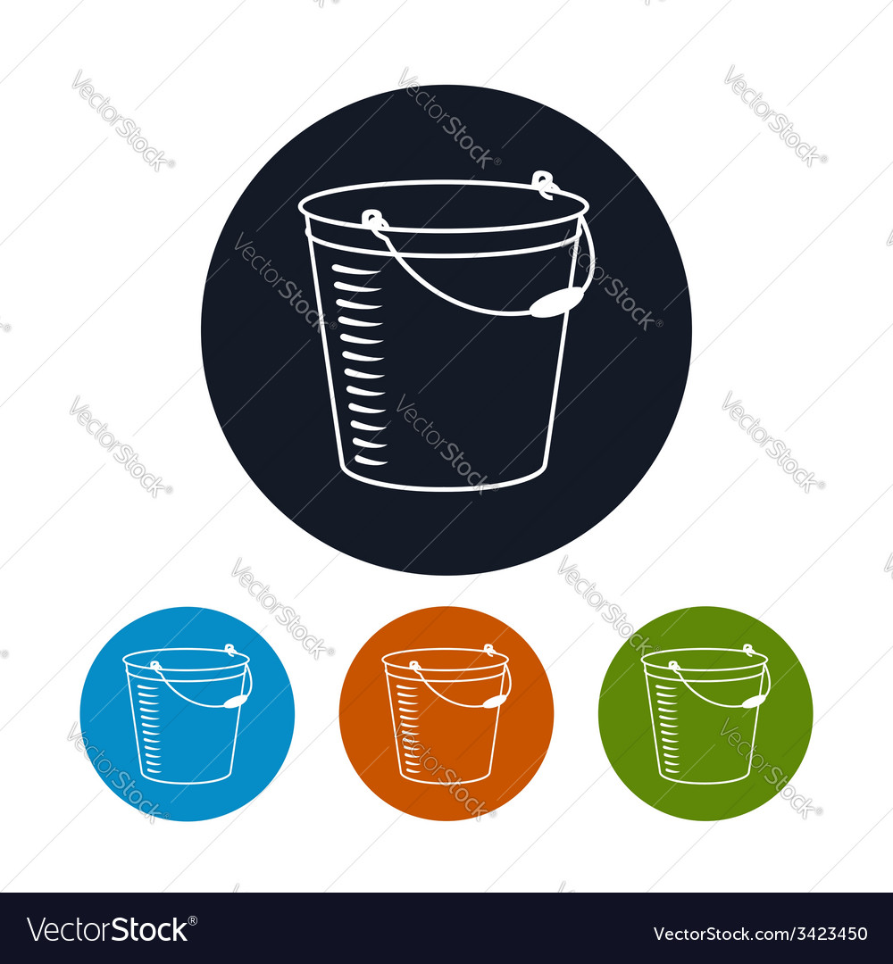 Icon bucket vector | Price: 1 Credit (USD $1)