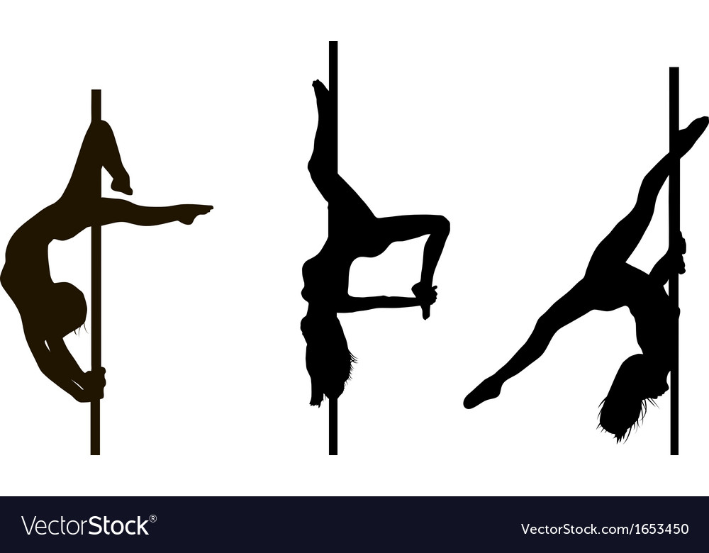 Pole dancing girls in vector | Price: 1 Credit (USD $1)