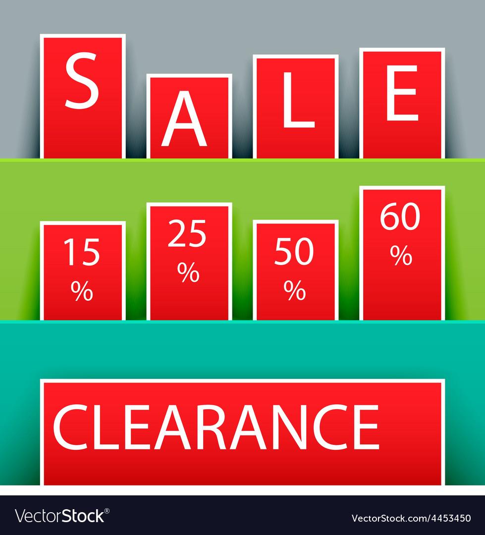 Sale advertisement vector | Price: 1 Credit (USD $1)