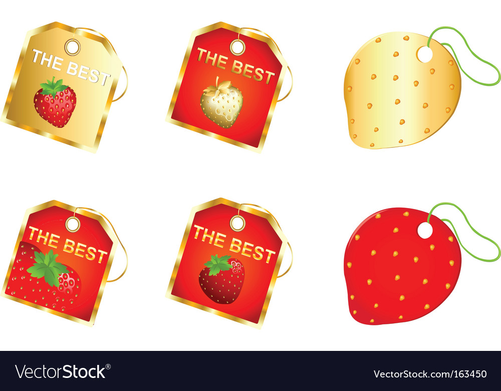 Strawberry labels vector   Price: 1 Credit (USD $1)