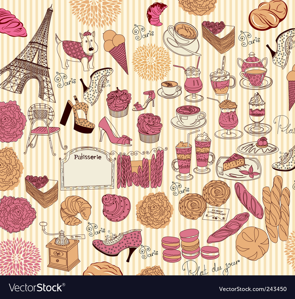 Symbols of paris vector | Price: 1 Credit (USD $1)
