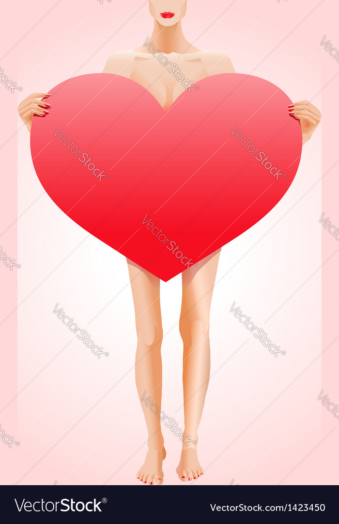 Valentines heart shape vector | Price:  Credit (USD $)