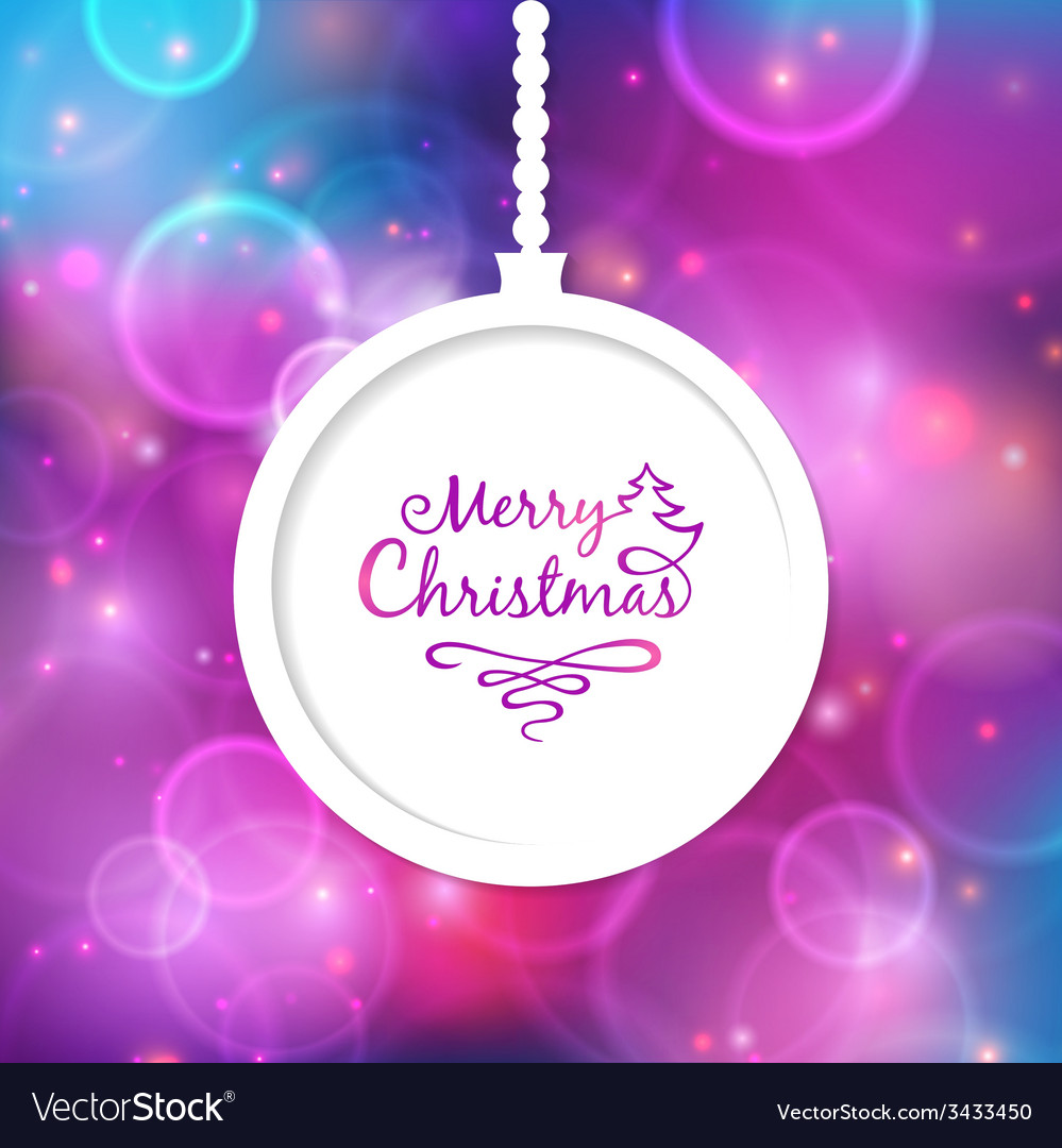 White christmas ball with the inscription vector | Price: 1 Credit (USD $1)