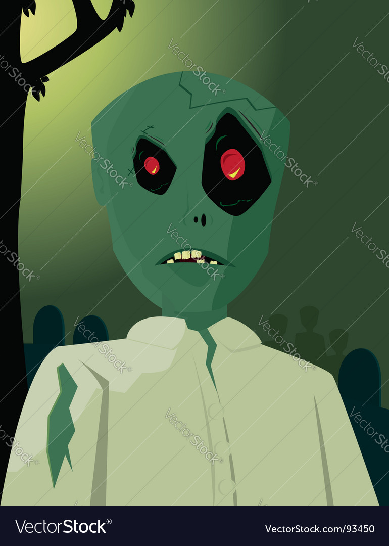 Zombie character vector | Price: 1 Credit (USD $1)