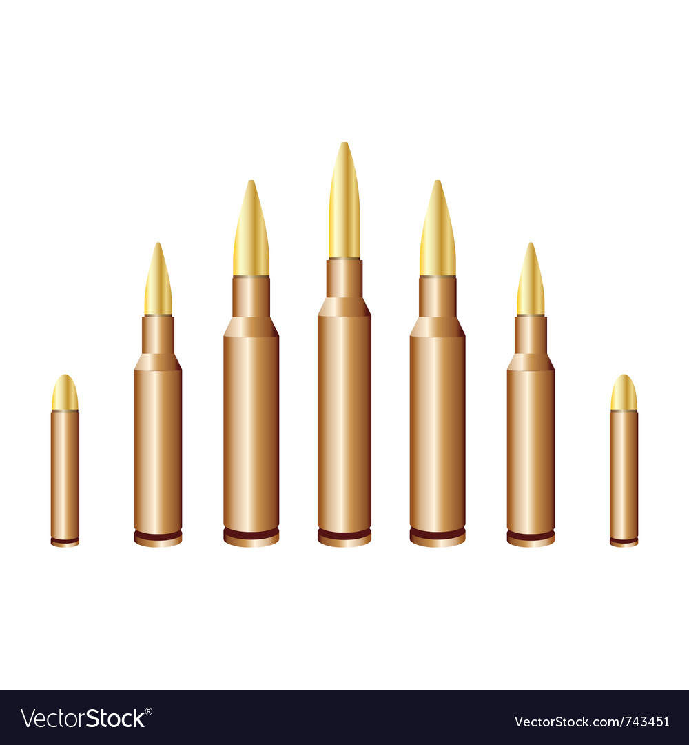 Caliber bullets vector | Price: 1 Credit (USD $1)
