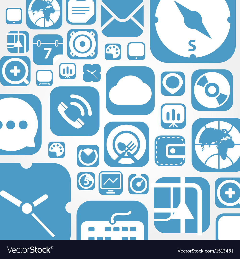Flying web graphic interface icons background vector | Price: 1 Credit (USD $1)