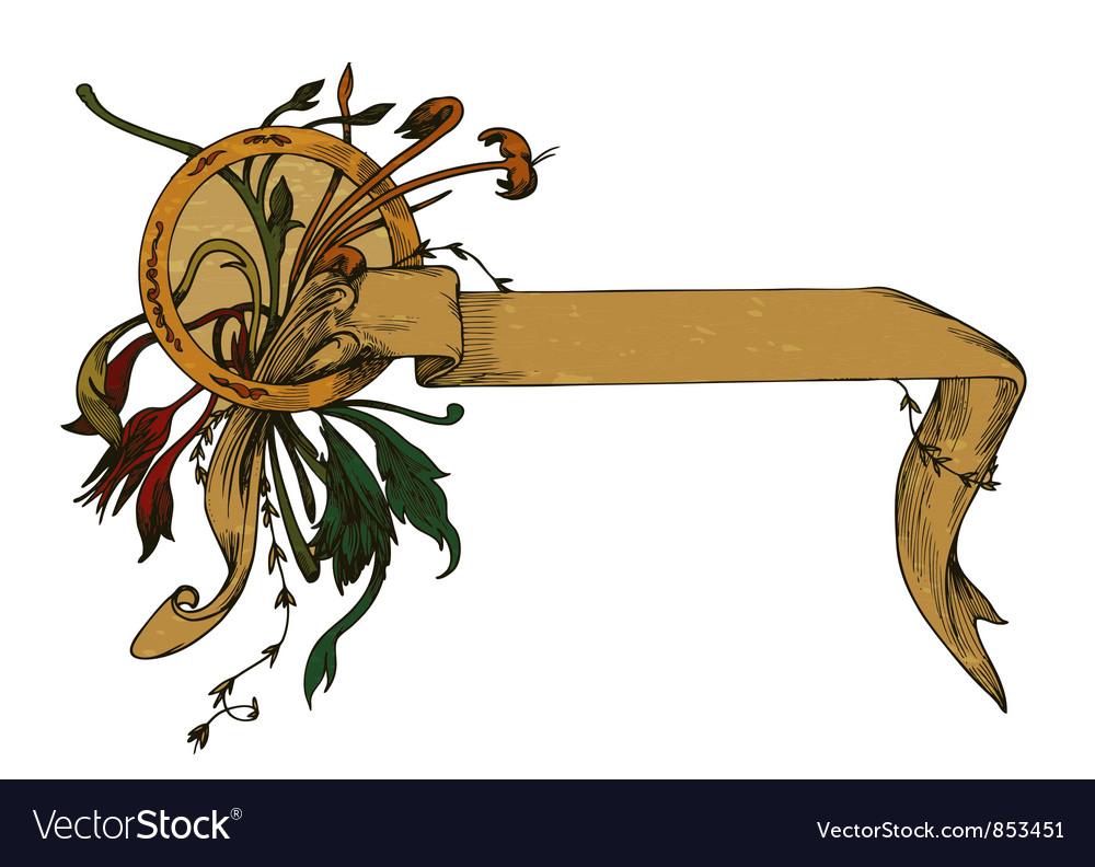 Grunge vintage ribbon vector | Price: 1 Credit (USD $1)