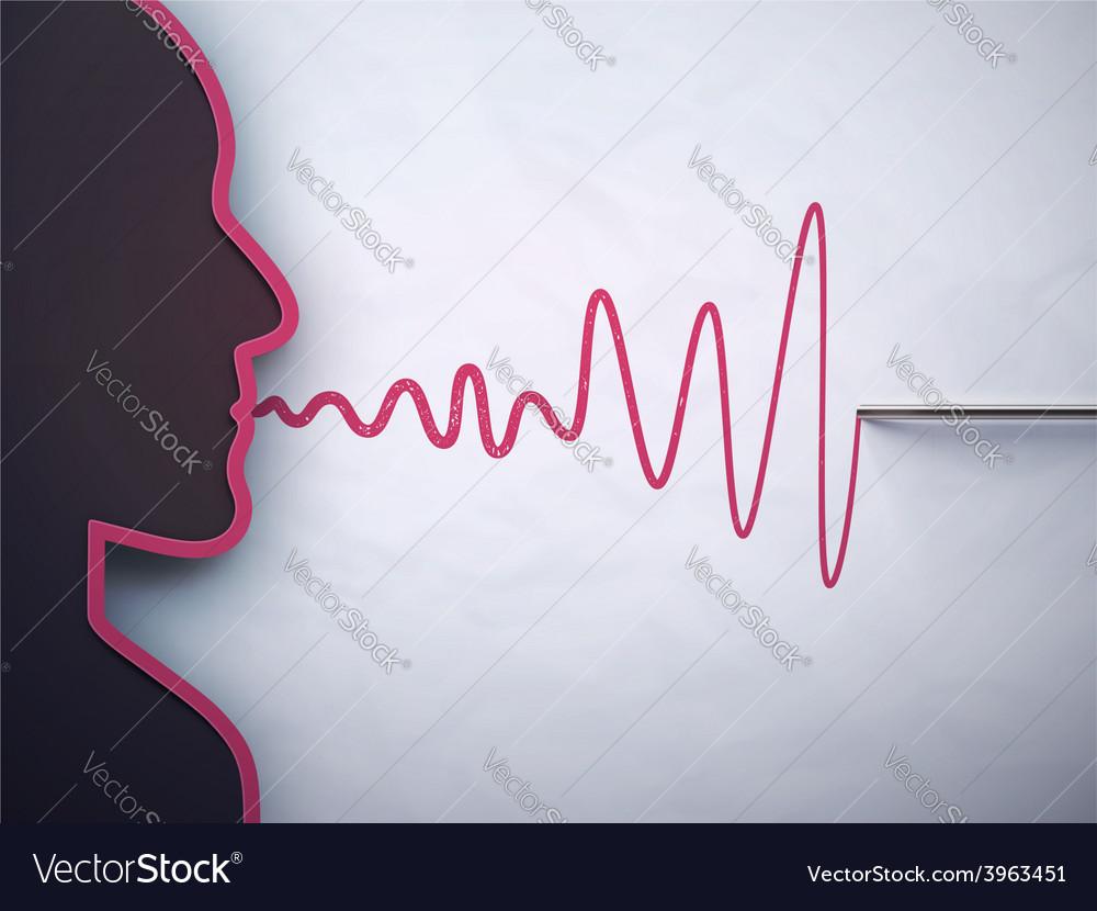 Lie detector vector | Price: 1 Credit (USD $1)