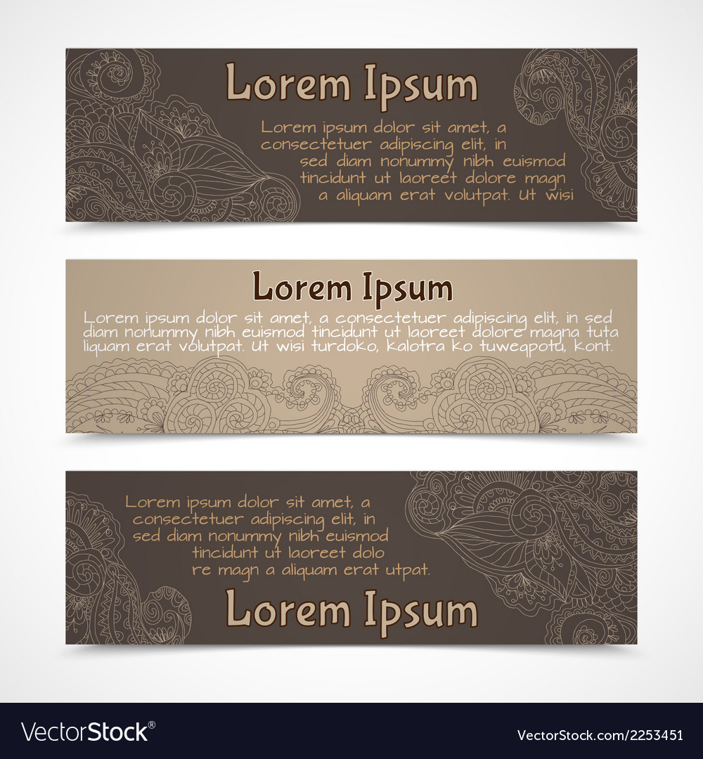 Ornamental banners horizontal vector | Price: 1 Credit (USD $1)