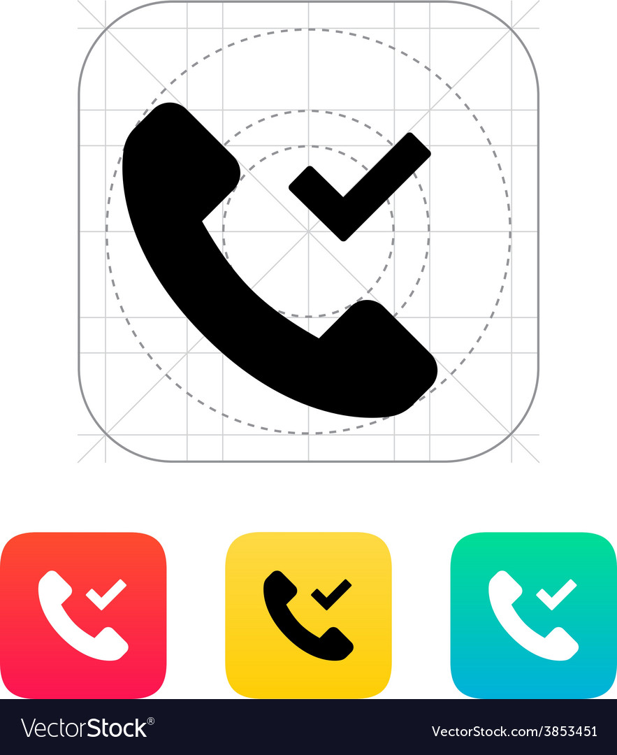 Phone call accept icon vector | Price: 1 Credit (USD $1)