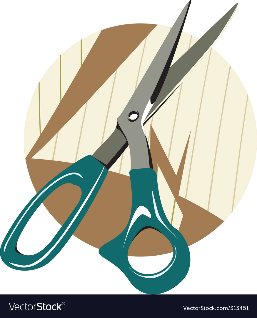 Scissors and paper vector