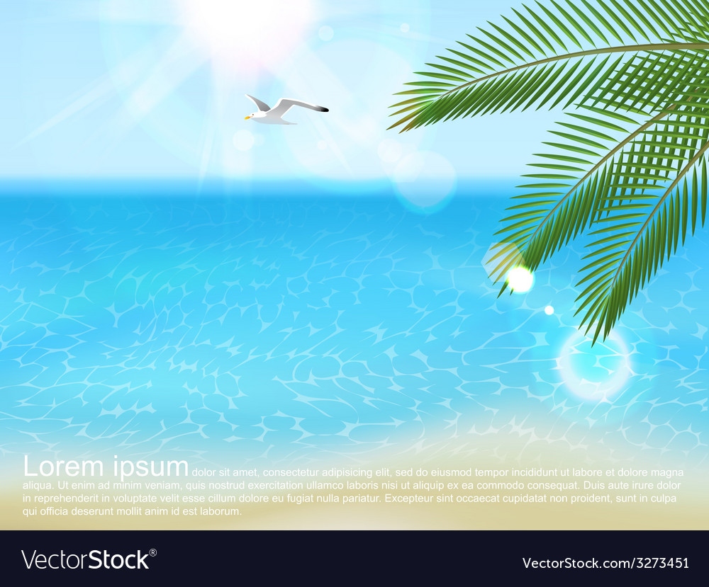 Sea landscape with type design vector | Price: 1 Credit (USD $1)
