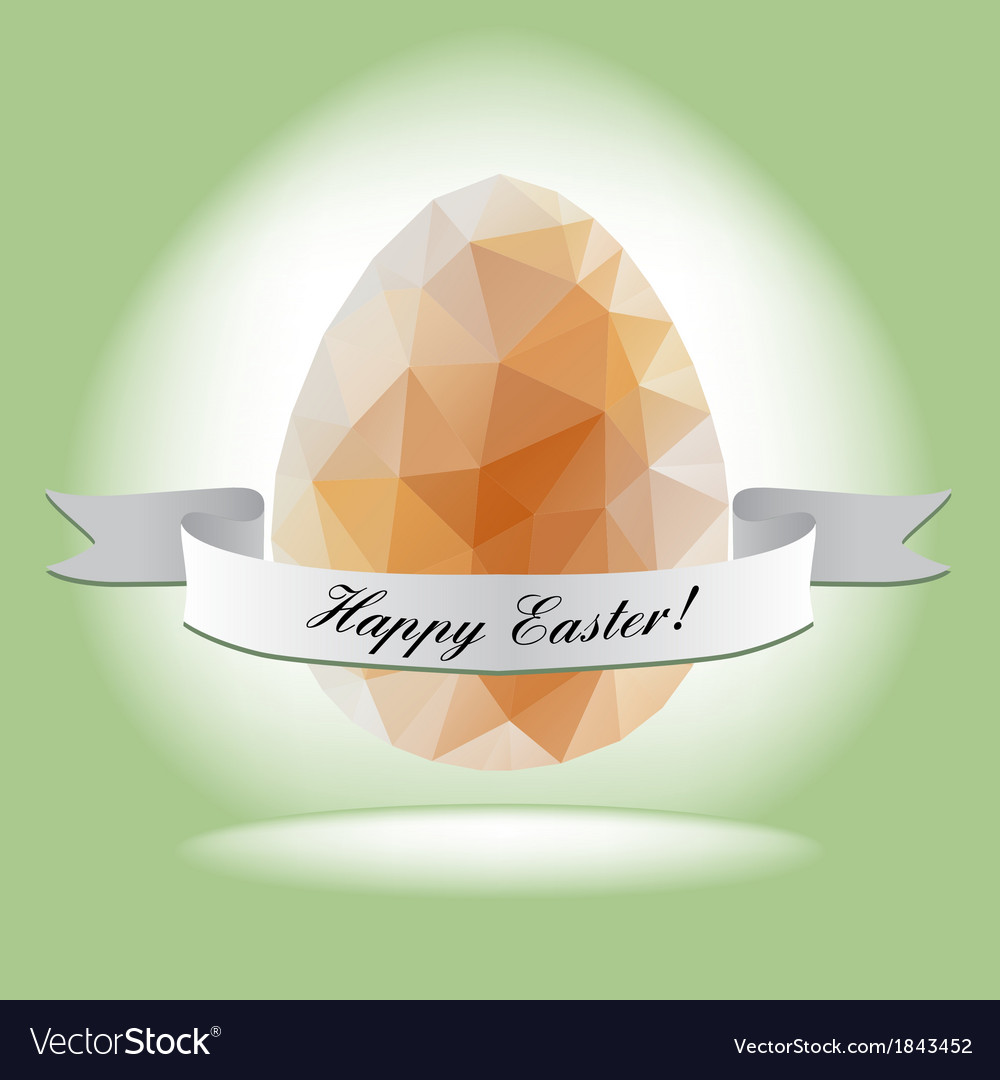 Egg in the style of the crystal for easter vector | Price: 1 Credit (USD $1)