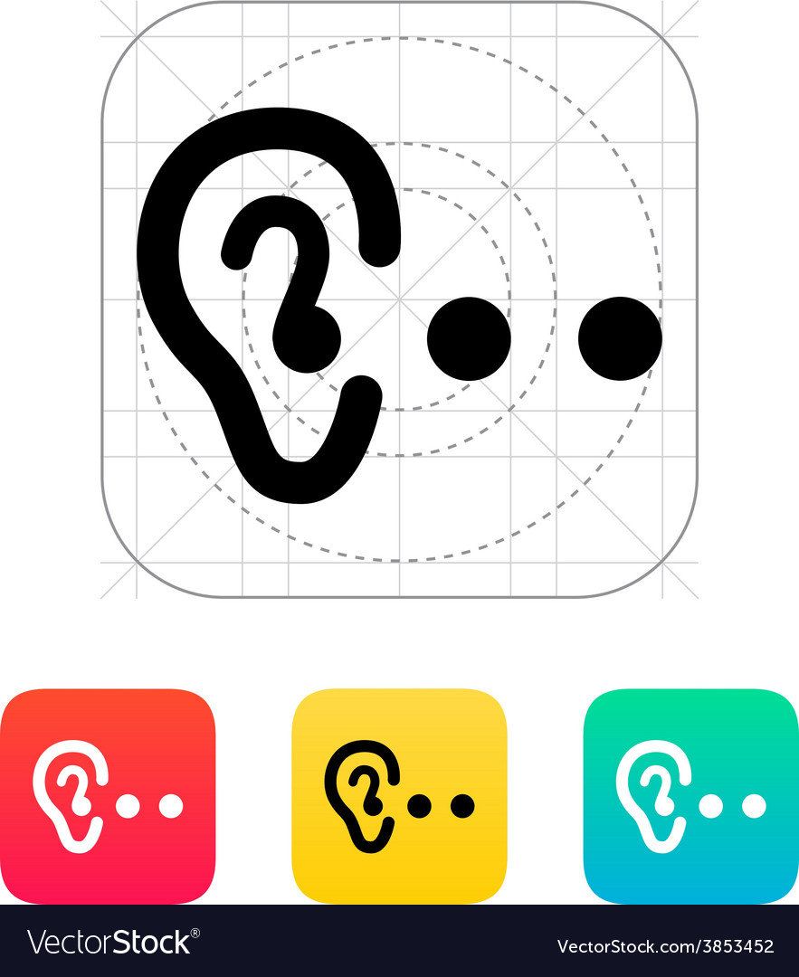 Hearing abstract icon vector | Price: 1 Credit (USD $1)
