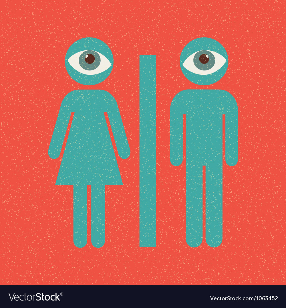 Restroom retro poster vector | Price: 1 Credit (USD $1)