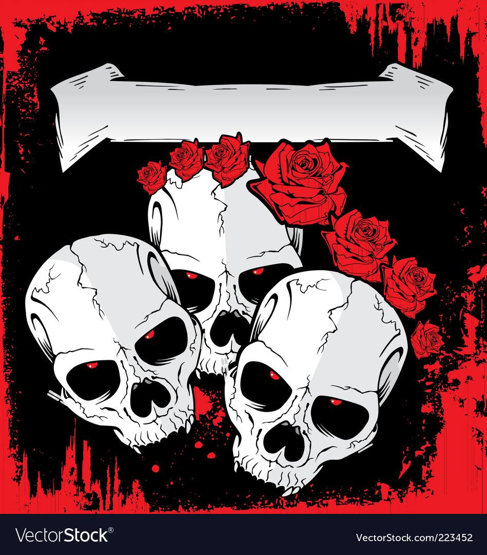 Skull tattoo background vector   Price: 1 Credit (USD $1)