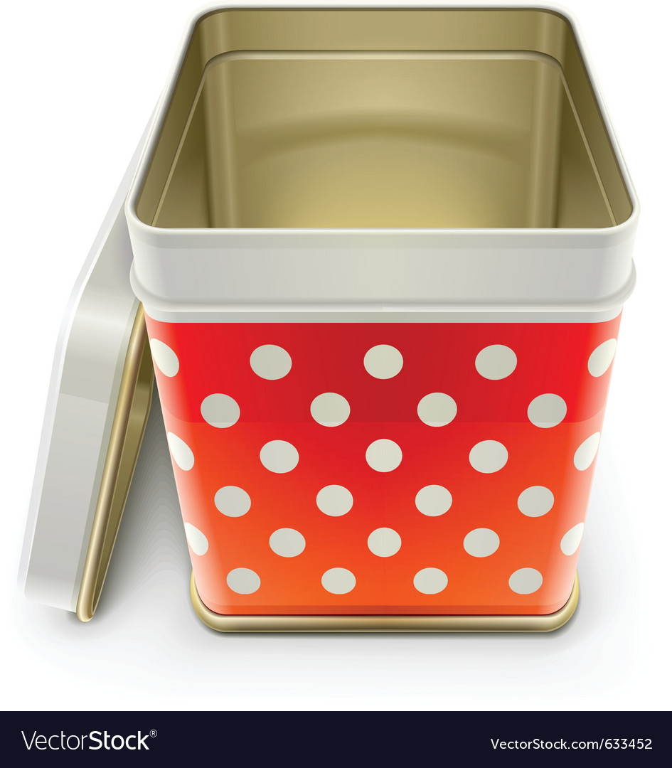Tin box with lid vector | Price: 1 Credit (USD $1)